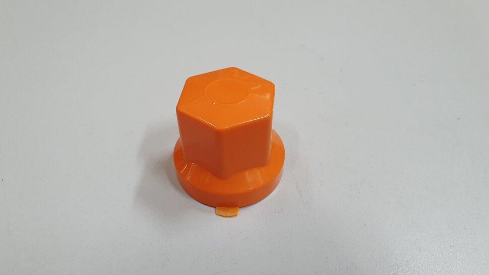Колпачок гайки колеса 32мм пластиковый оранжевый