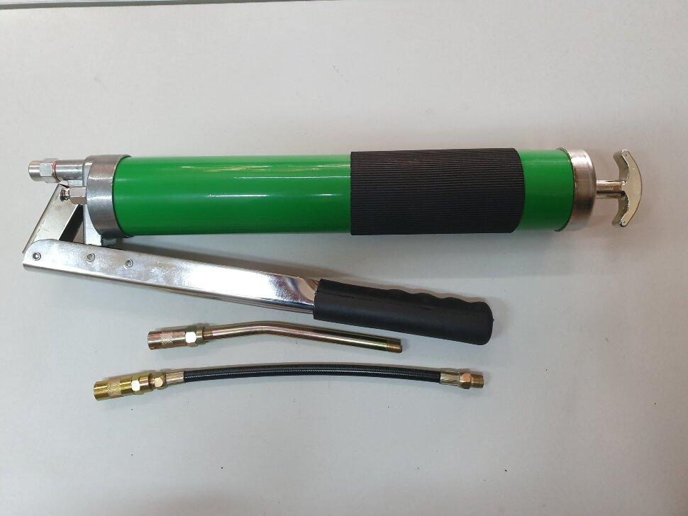 Шприц для смазки ручной 500мл двухштоковый обрезиненный