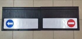 Брызговики 400x600 светоотражающие крипич-стрелка белая основа