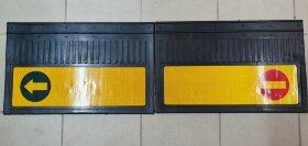 Брызговики 400x600 светоотражающие крипич-стрелка желтая основа