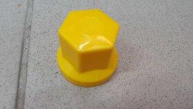 Колпачок гайки колеса 33мм пластиковый желтый