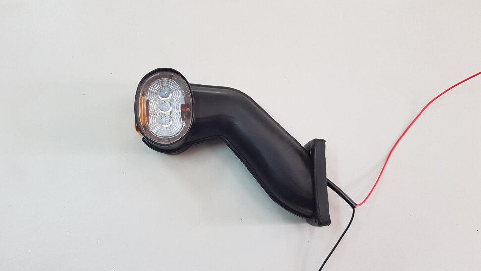 Рог прицепа с изгибом S левый LED