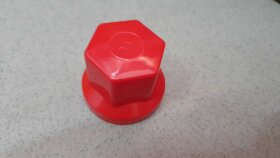 Колпачок гайки колеса 33мм пластиковый красный