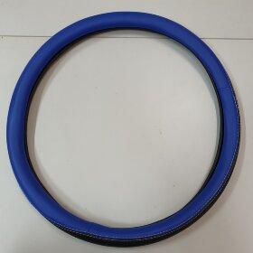 Оплетка на руль 44-46см черно-синяя