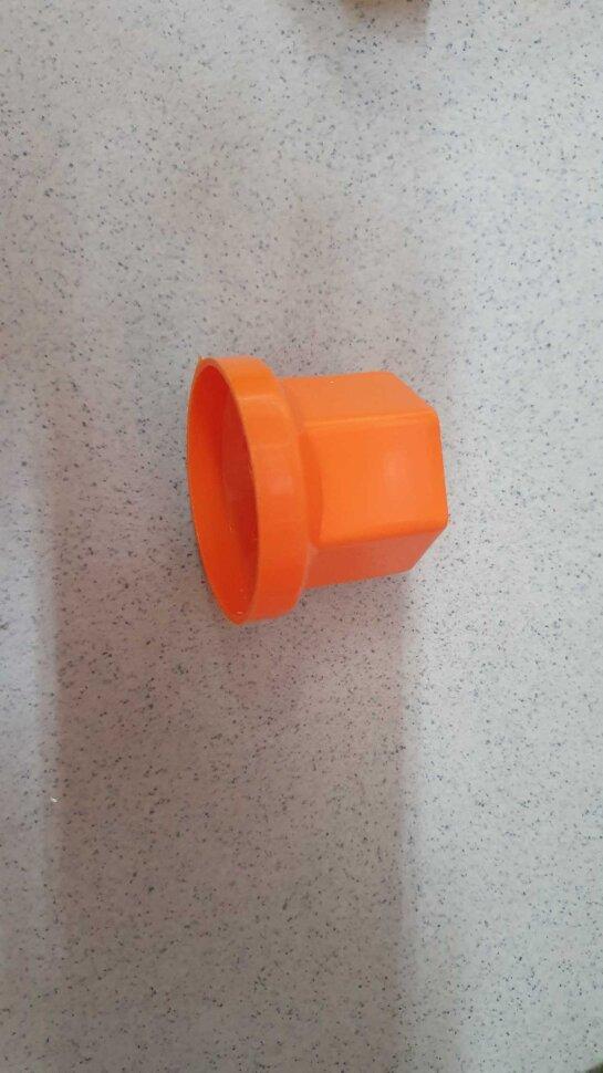 Колпачок гайки колеса 33мм пластиковый оранжевый