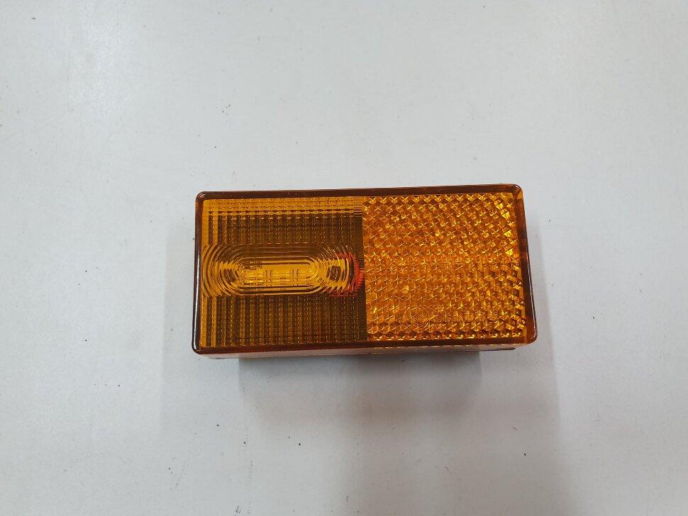 Фонарь габаритный желтый 3LED КАМАЗ смещенный светодиод с разъемом