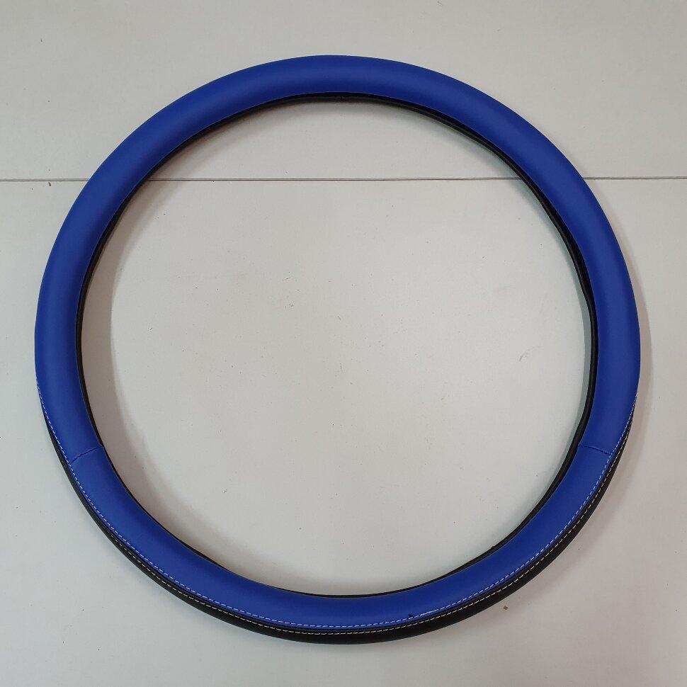 Оплетка на руль 46-48см SCANIA черно-синяя