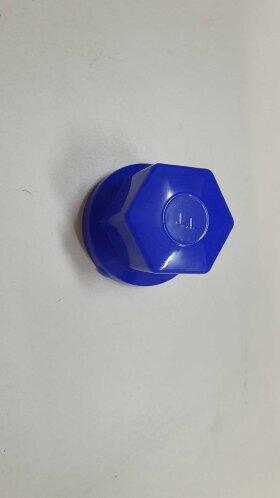 Колпачок гайки колеса 32мм пластиковый синий