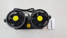 Вентилятор в кабину двойной в решетке 24V