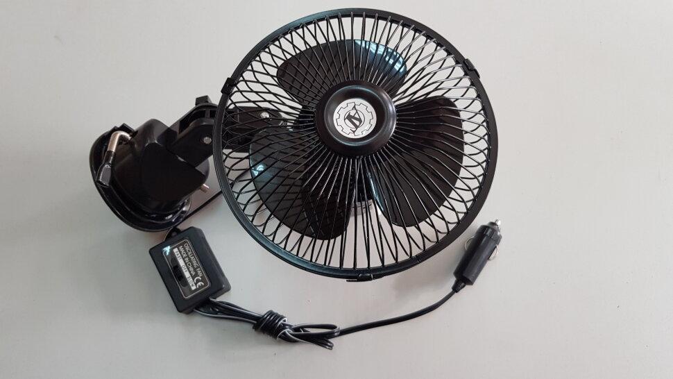 Вентилятор в кабину на присоске металл d=150