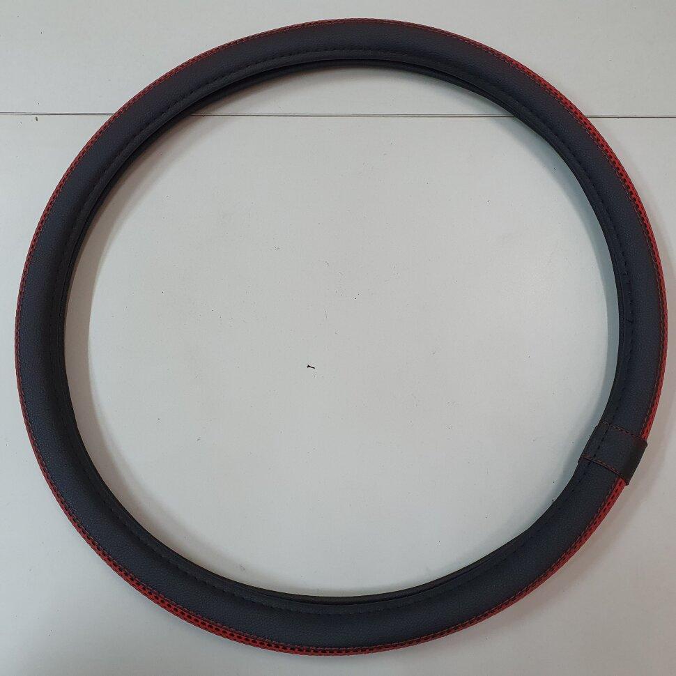 Оплетка на руль 46-48см SCANIA красная
